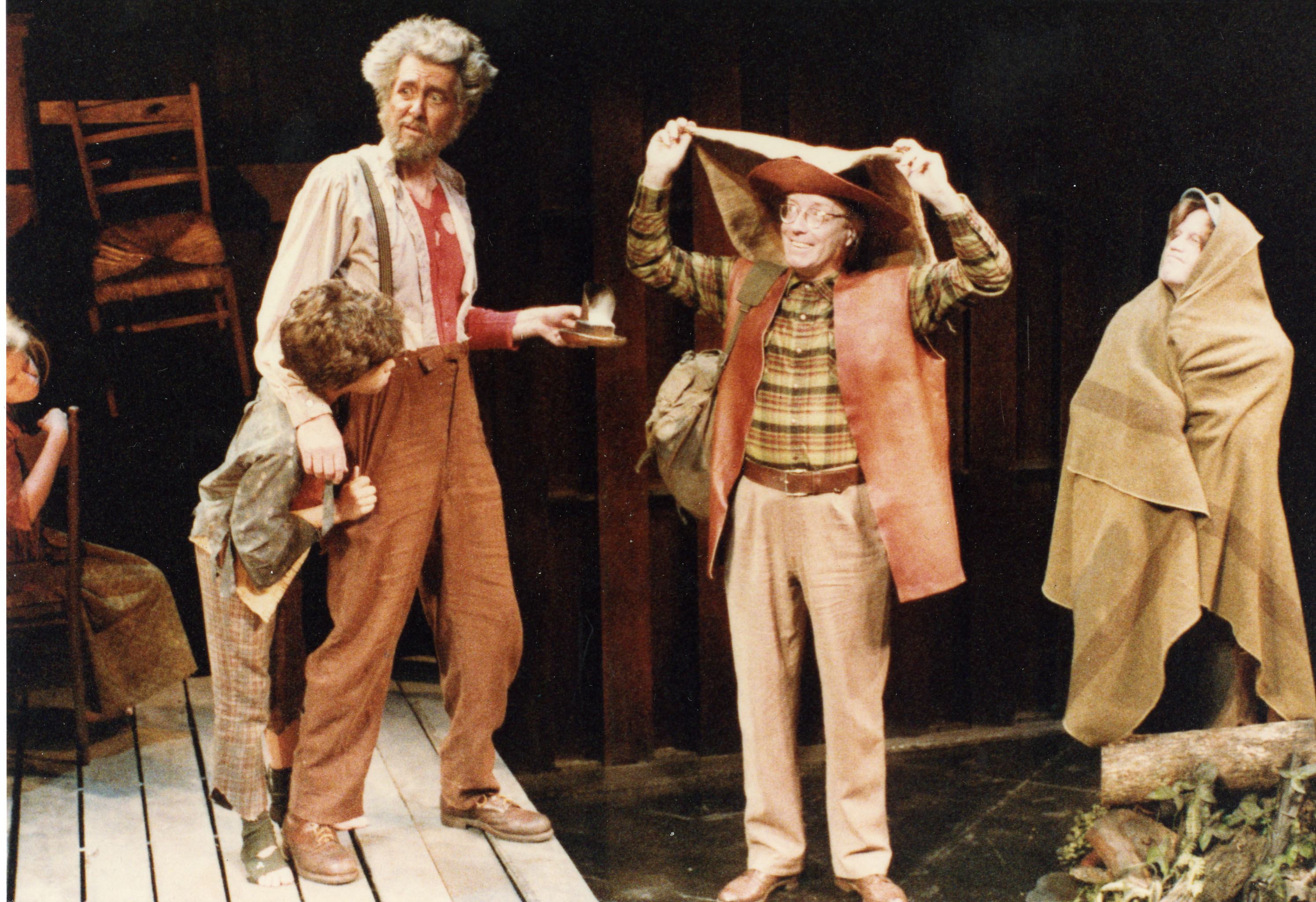 Photograph of the 1986 production of <em>Why The Lord Come To Sand Mountain</em> by the Storefront Theatre