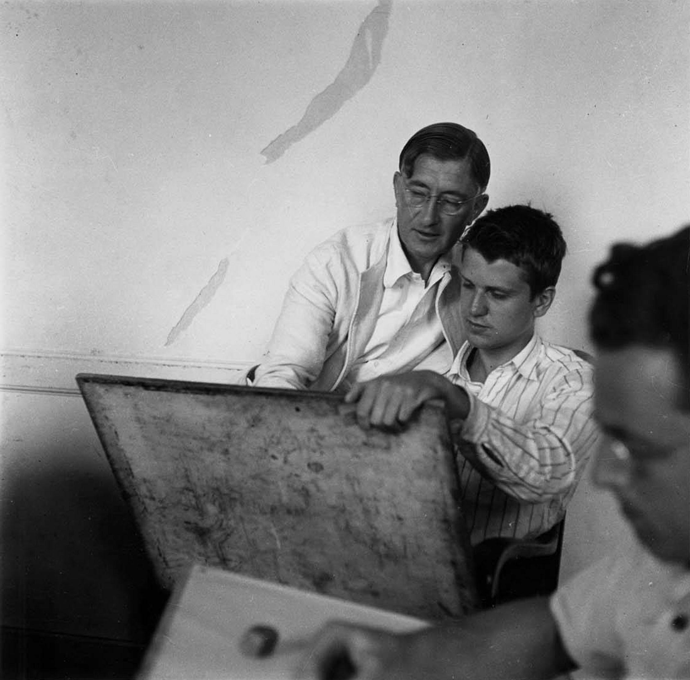 Josef Albers with student Robert De Niro, Sr., ca. 1939-1940