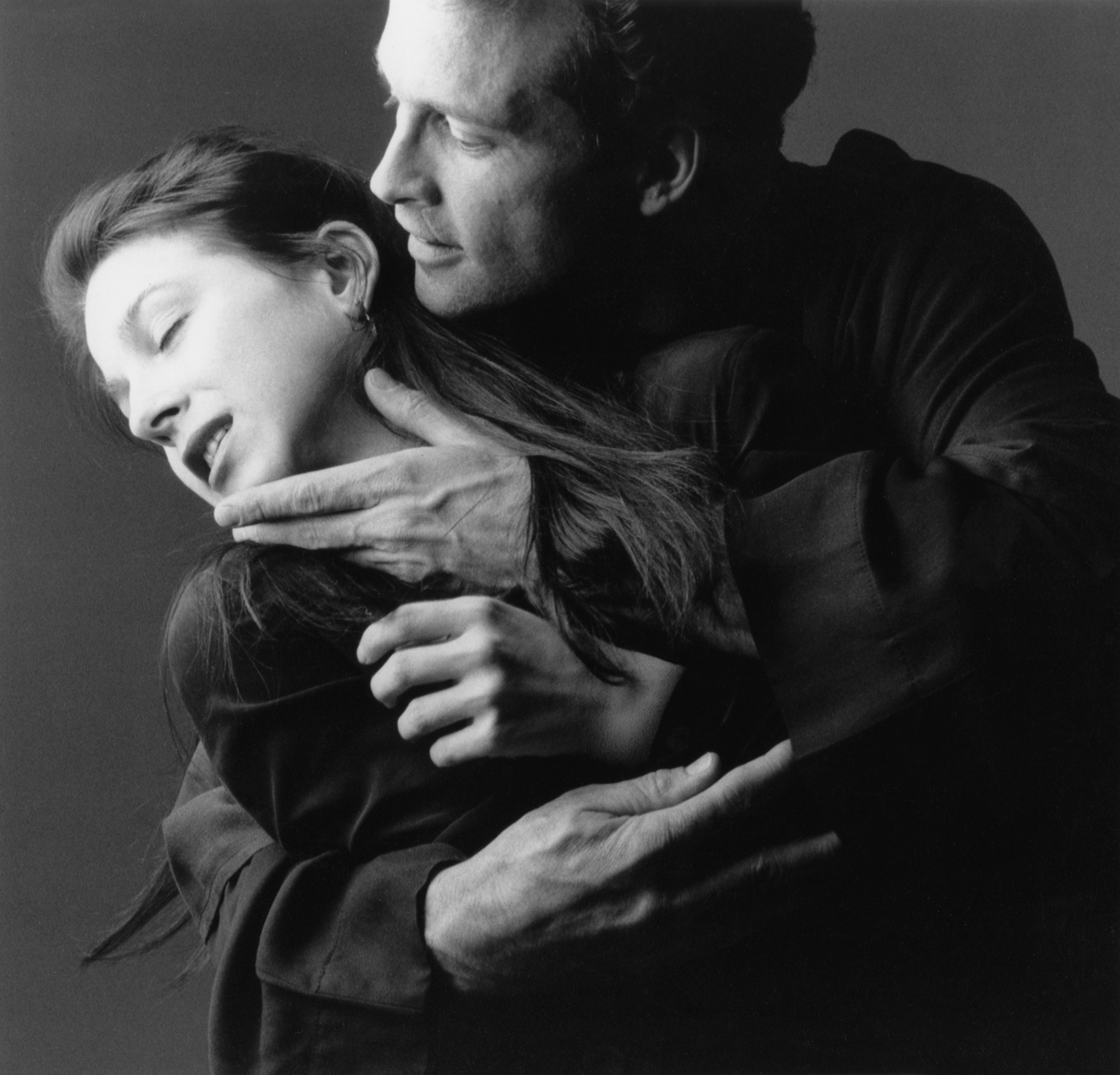 Peter Ashton Wise and Marin Hinkle in <em>Ambrosio</em> at Signature Theatre Company, 1992