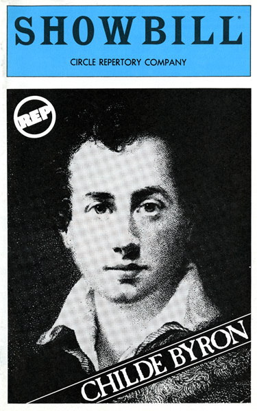 <em>Childe Byron</em> playbill