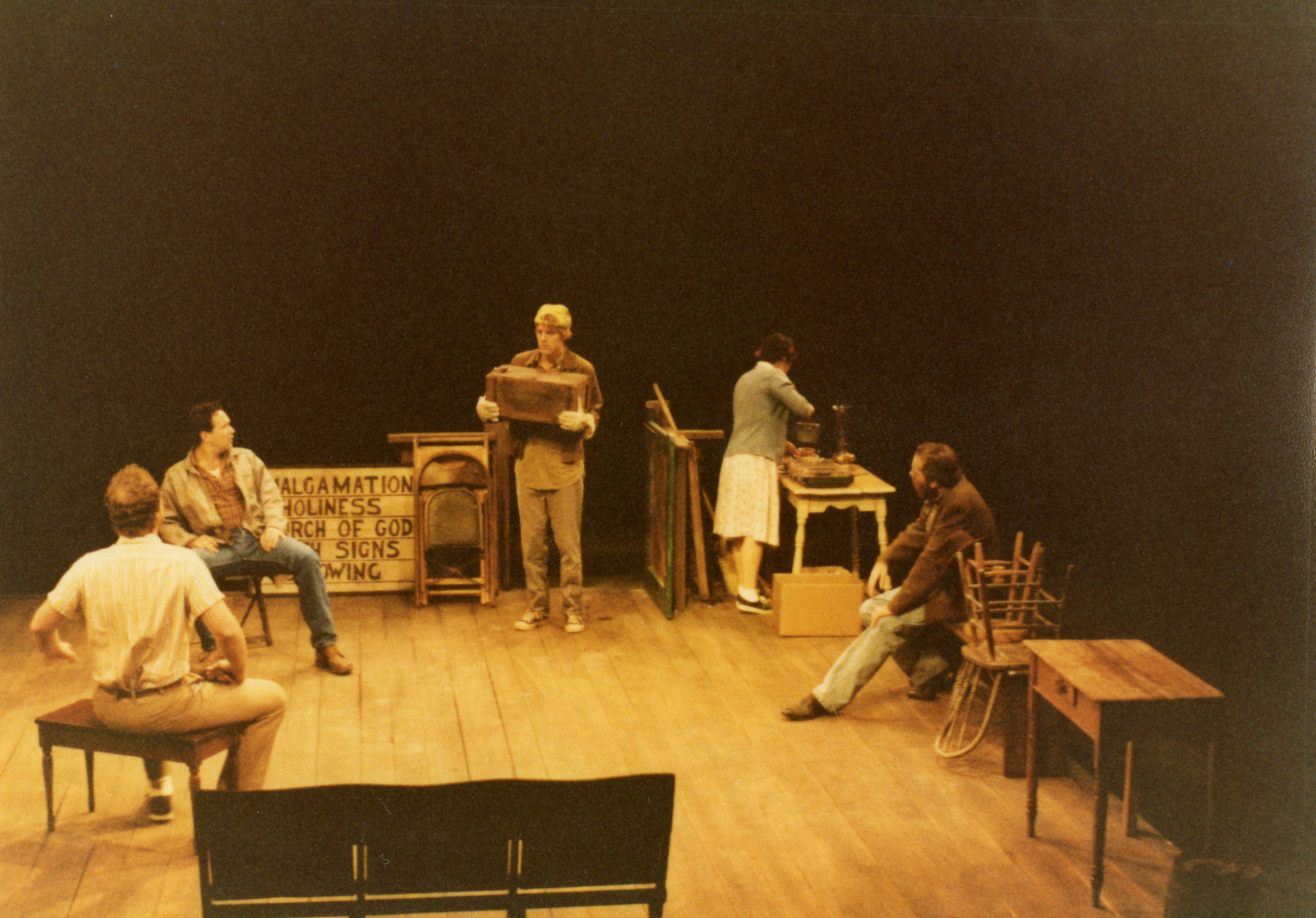 Photograph from 1984 production of <em>Holy Ghosts</em> at the Alley Theatre