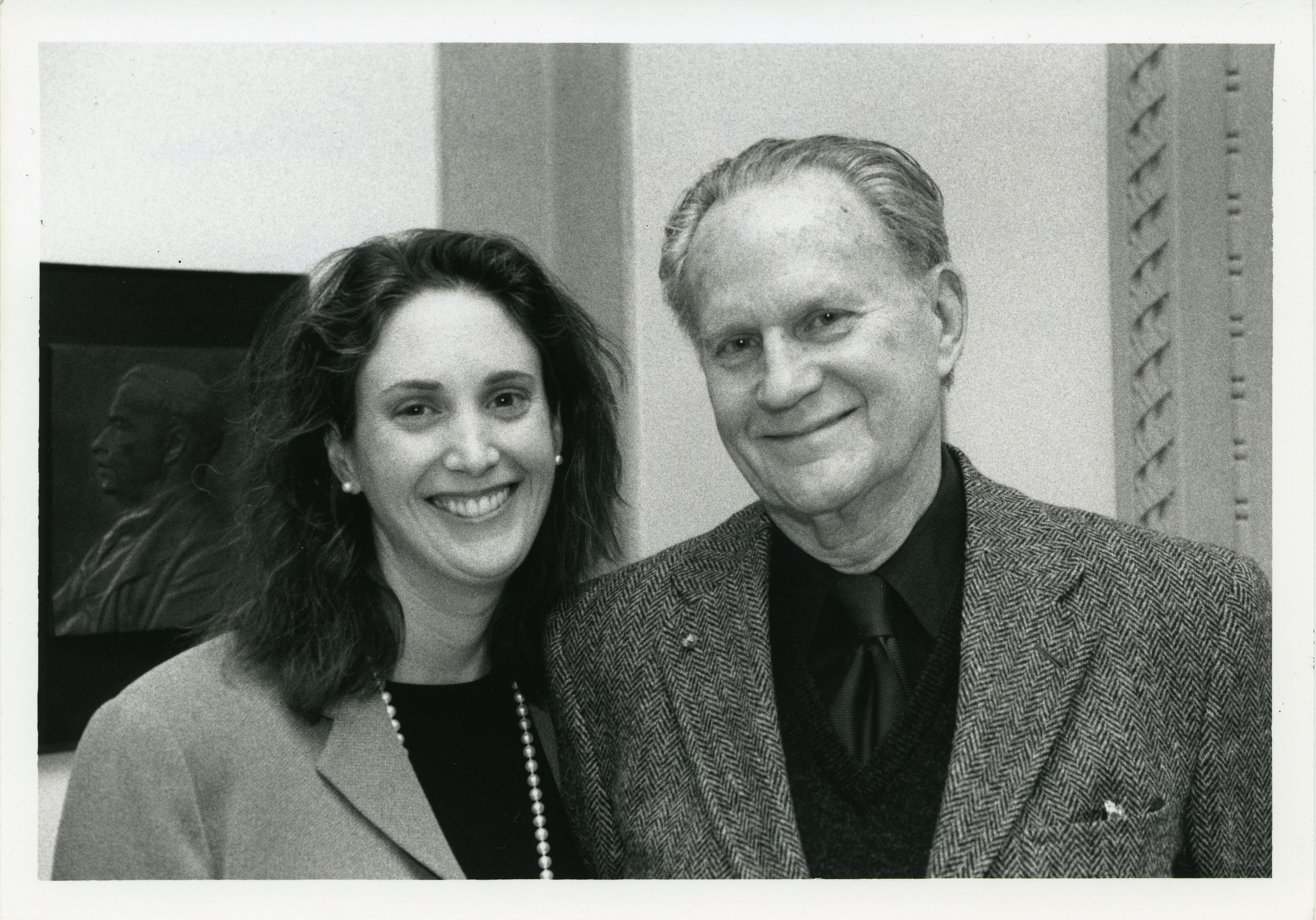Laura Callanan and Romulus Linney at the American Academy of Arts and Letters, May 2003