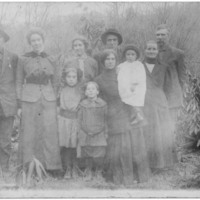 Postcard of Joe Cook's Family