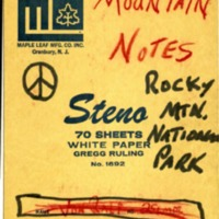Ralph Fickel's Mountain Notes, Book 1
