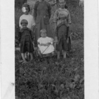 Postcard of Laura Cook's Family