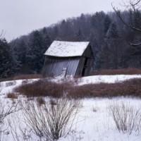 Leaning Barn near Montebello, Va c1974