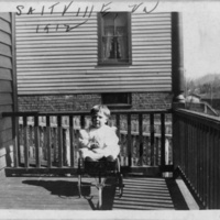 Young Child in Baby Carriage - Hand inscribed: Saltville, Va, 1912
