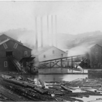 Lumber Mill on River - Picture Postcard