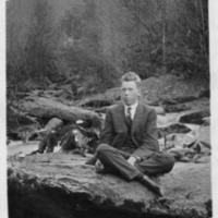Postcard of Steve Carpenter with Border