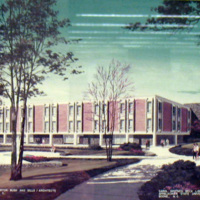 Artists Rendering of the Old Belk Library