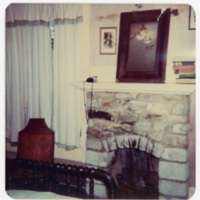 Bedroom with Rock Fireplace in Ripshin (Sherwood Anderson House)