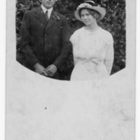 Postcard of Mr and Mrs Howard's wedding day