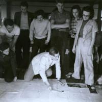 Photo, Josef Albers' drawing class, ca. 1939-1940