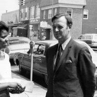 Campaign Photograph, Representative Broyhill with a constituent 1970