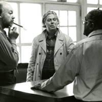 Photo, Jonathan Williams and Fielding Dawson at St. Andrews College, 1974
