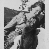 Postcard of Lockie Carpenter with an Animal