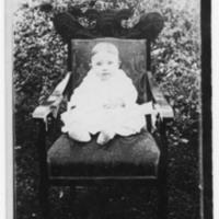 Postcard of Shuford Edmisten as a baby