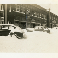 Cars in Snow on King Street