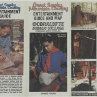 Great Smoky Mountain Country Entertainment Guide and Map: Oconalufte Indian Village