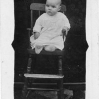 Postcard of Louise Coffey as a Baby