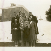 Group Posing in Snow