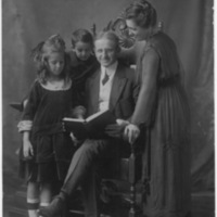 Portrait of Family-Man, Woman, Girl and Boy