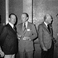 Representative Broyhill with his brother, Paul Broyhill, Gerald Ford, and George Bush on the far right