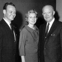 Representative Broyhill, Louise Broyhill and Dwight Eisenhower