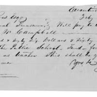 Treasury Warrant, 1857 February 3