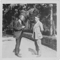 Photograph of Roby Day and unidentified man