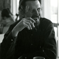 Photo, Robert Creeley at the Black Mountain College Festival, St. Andrews College, 1974