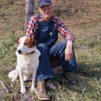 Mr Wheeler and Dog c1977 Blue Ridge Mts