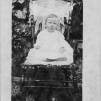 Postcard of Grace Edmisten as a Baby