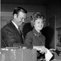 Representative James  Broyhill and Louise Broyhill at the Polls