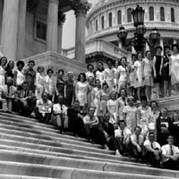 Representative James Broyhill with ASU Library Science Students, 1970