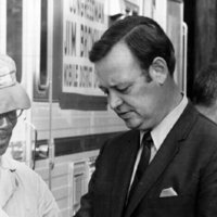 Campaign Photograph, Representative Broyhill with a constituent, 1970