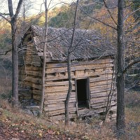 Old Log Cabin (book cover) c1972