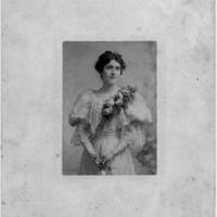 Portrait of Mrs. Henry Carter Stuart (nee Margaret Bruce Carter) - Additional genealogy information written on reverse by Elizabeth Tyler Copenhaver 12-20-1979 (J. H. Faber, Norfolk, Va.)