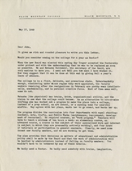 Letter, Isabel [Mangold] to John [Andrew Rice], May 17, 1949