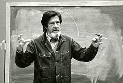 Photo, Composer John Cage at St. Andrews College, ca. mid-1970s