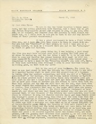 Letter, Charles Olson to John Rice, March 21, 1956