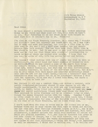 Letter, Ted Dreier to John [Andrew Rice], September 12, 1961