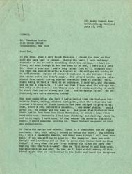 Letter, [John Andrew Rice] to Theodore Dreier, July 15, 1963