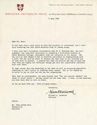 Letter, Willard A. Lockwood to Mr. Rice, June 3, 1966