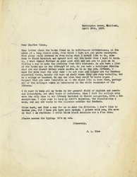 Letter, J.A. Rice to Charles Olson, April 29, 1957