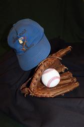 Fielding Dawson's Baseball Cap and Glove