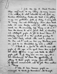 Black Mountain College student evaluation by Francesca Livermore, ca. 1936