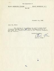 Letter, Charles Olson to Mr. Rice, November 13, 1959