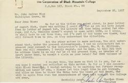 Letter, Charles Olson to John Rice, September 28, 1957